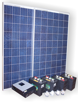 Solar battery with inverter and Deep cycle battery